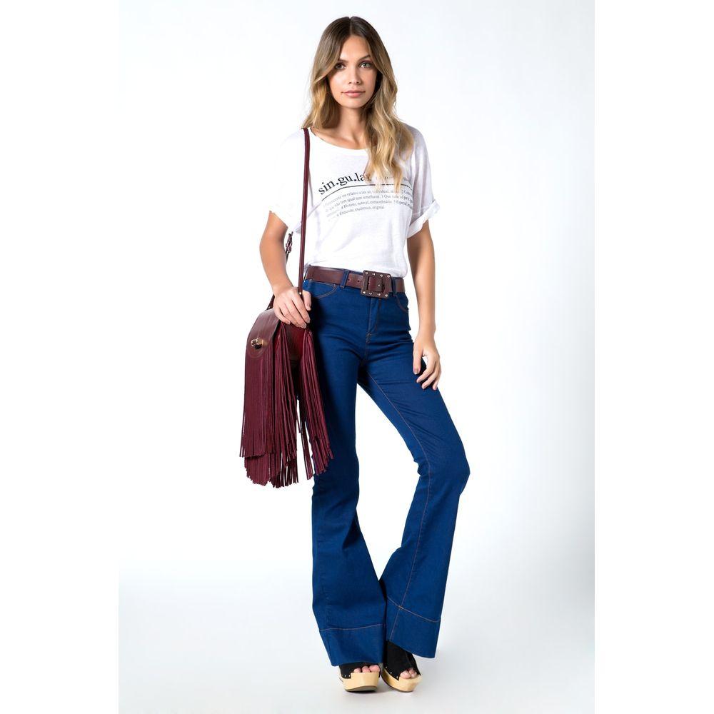 b149d719fa3 ... Calça Jeans Feminina Flare: Calça Jeans Super Flare - 01018741