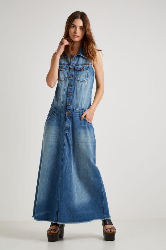 Vestido jeans sacada