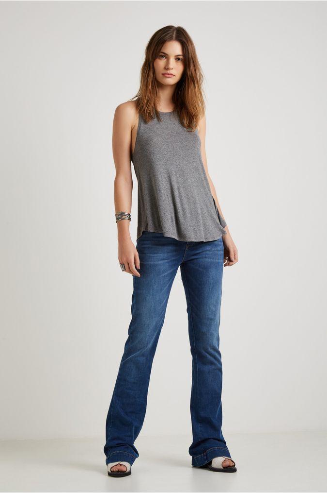 59ab5c1170 Calça Jeans Flare Barra Larga - 01024567 - Sacada