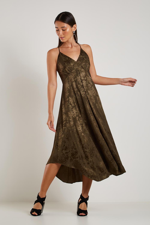 Vestido Midi Jacquard