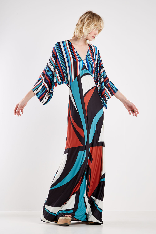 vestido lenço de mangas compridas